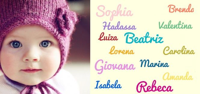 Sugestões de Nomes de Bebê e significado dos nomes Femininos e para meninos. Lista de nomes diferentes e modernos, acesse e confira!
