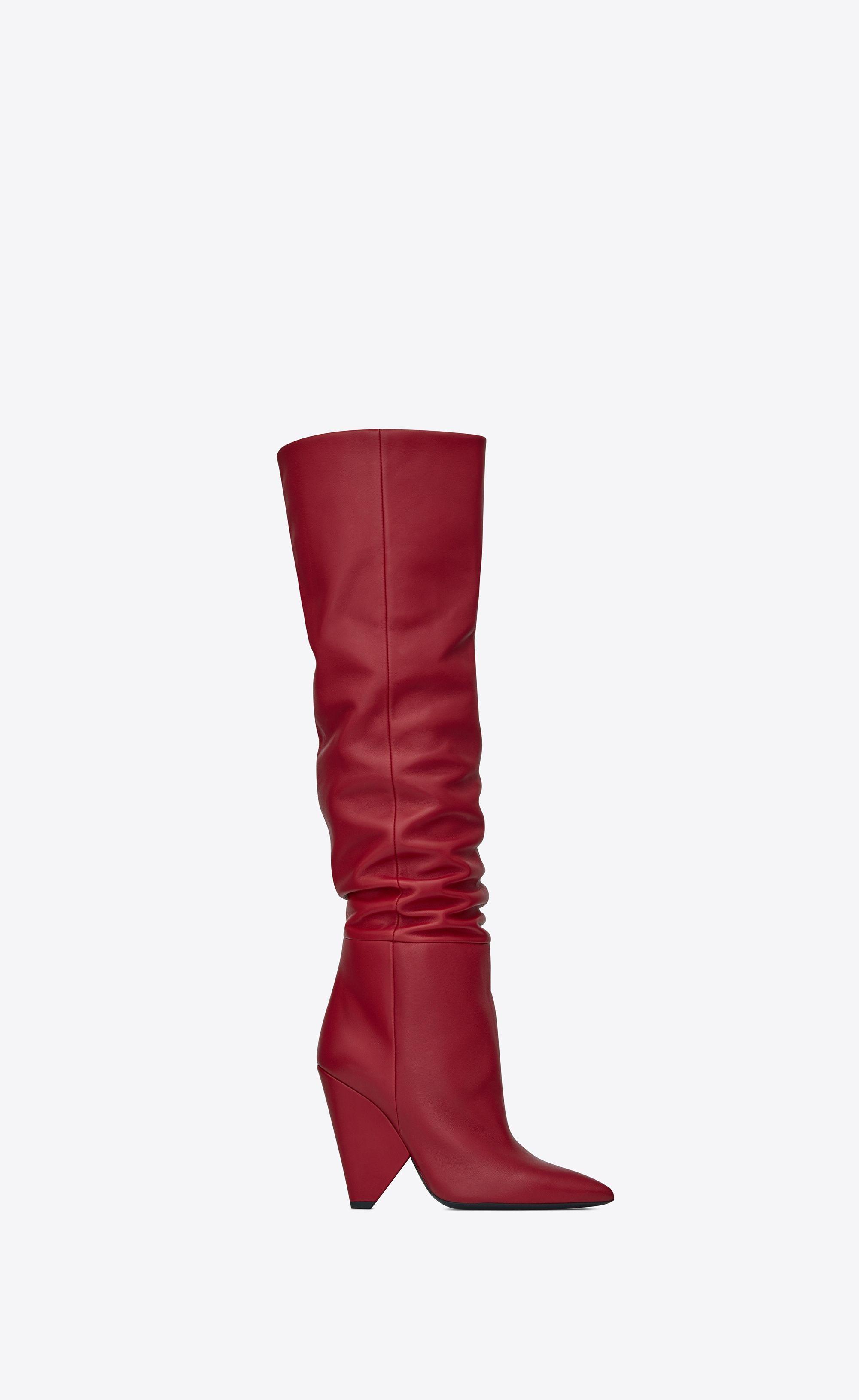 9897067add5 Saint Laurent Niki Wedge Boot In Lambskin   YSL.com   c o m b y n e ...