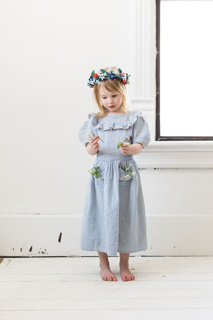 Crepe Paper Flower Girl crown | Party