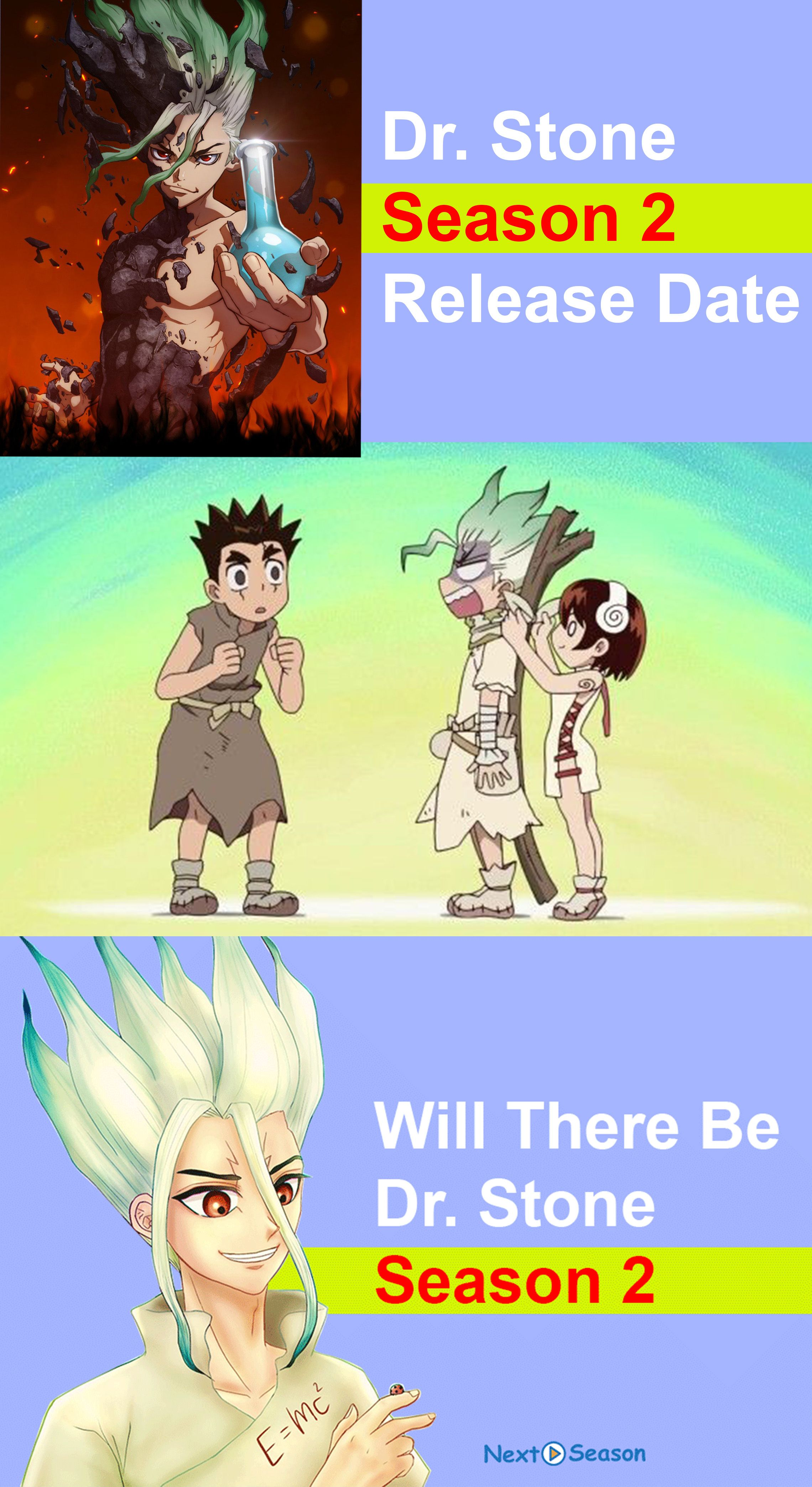 Dr Stone Season 2 Expected Release Date And Storyline Fantasy Adventure Anime Seasons Upcoming Anime