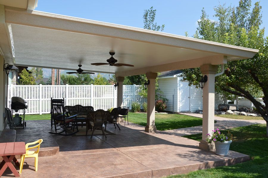 Stucco Trimmed Patio Cover Gallery   Warburtonu0027s ...