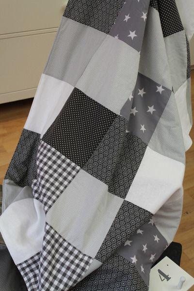 babydecken patchwork decke kuscheldecke 1 x1 4m ein designerst ck von himbeerhimmel shop. Black Bedroom Furniture Sets. Home Design Ideas