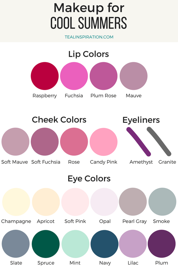 Makeup Colors For Summers Soft Summer Palette Light Summer Color Palette Soft Summer Color Palette