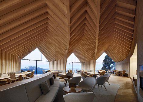 Holz architektur innenraum  Oberholz Mountain Hut, Obereggen, 2017 - PPA - Peter Pichler ...
