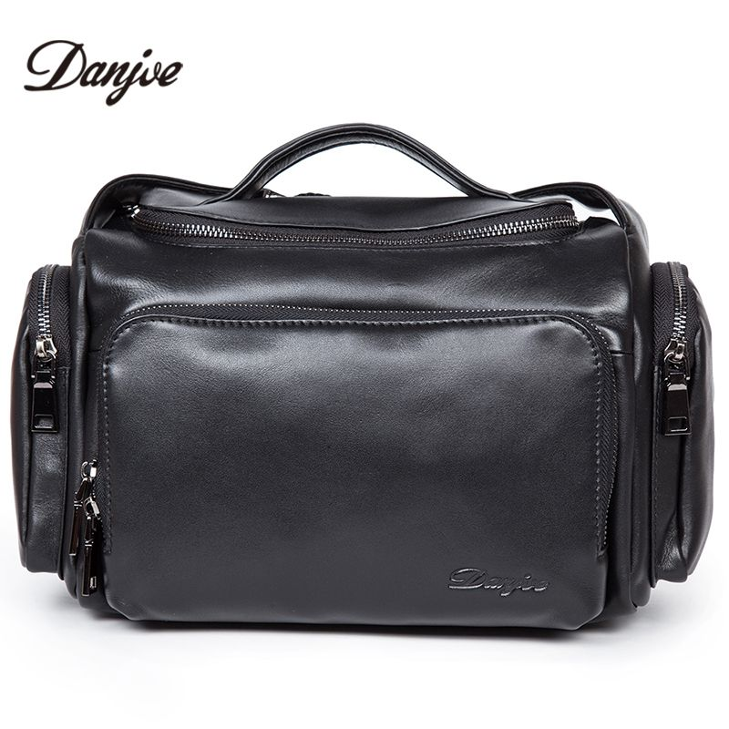 11491d3190a7 DANJUE Genuine Leather Mens Shoulder Bags Brand Fashion Buisness ...
