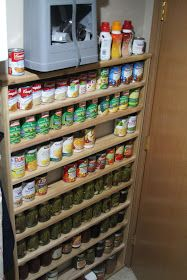 Use space behind a door for pantry storage.