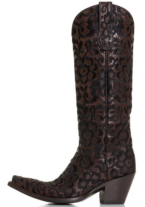 Corral Womens Western Floral Lace Snip