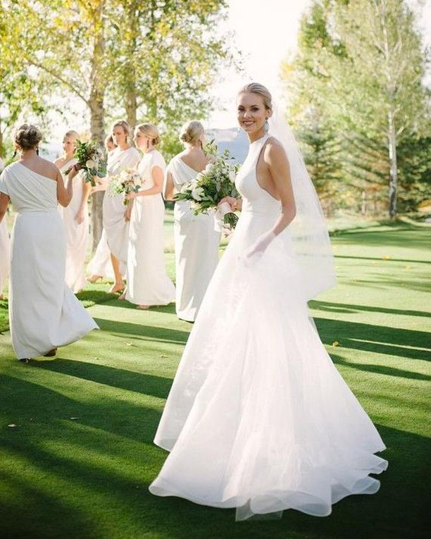 The Dessy Group | White bridesmaid dresses, Ivory and Wedding bells