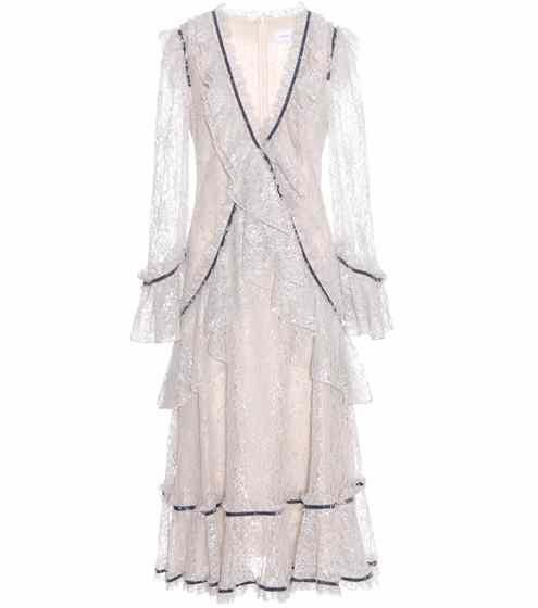 Raschelle metallic silk dress   Erdem