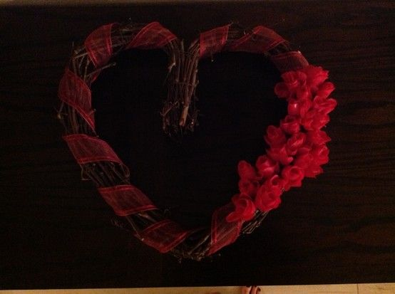 Valentine's Day wreath!!! Made it all by myself!!!