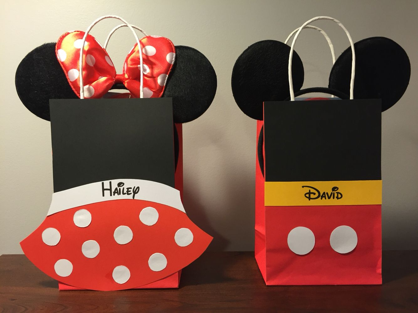 Mickey Mouse clubhouse birthday party gift bags