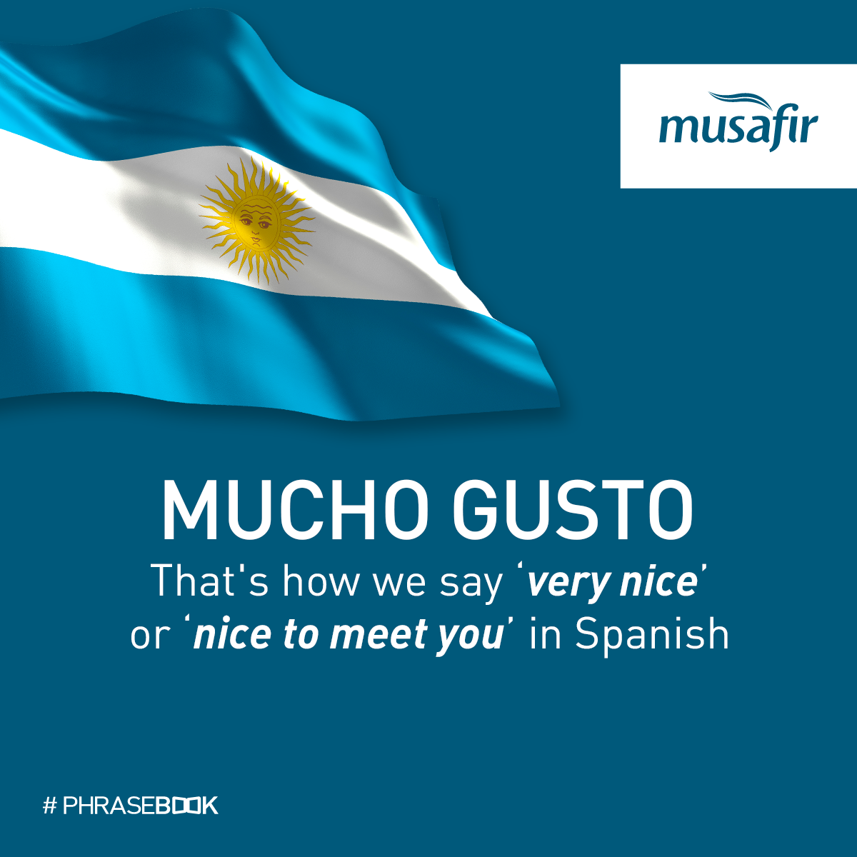 We\'ve been saying \'Mucho Gusto\' meaning \'nice to meet you\', each ...