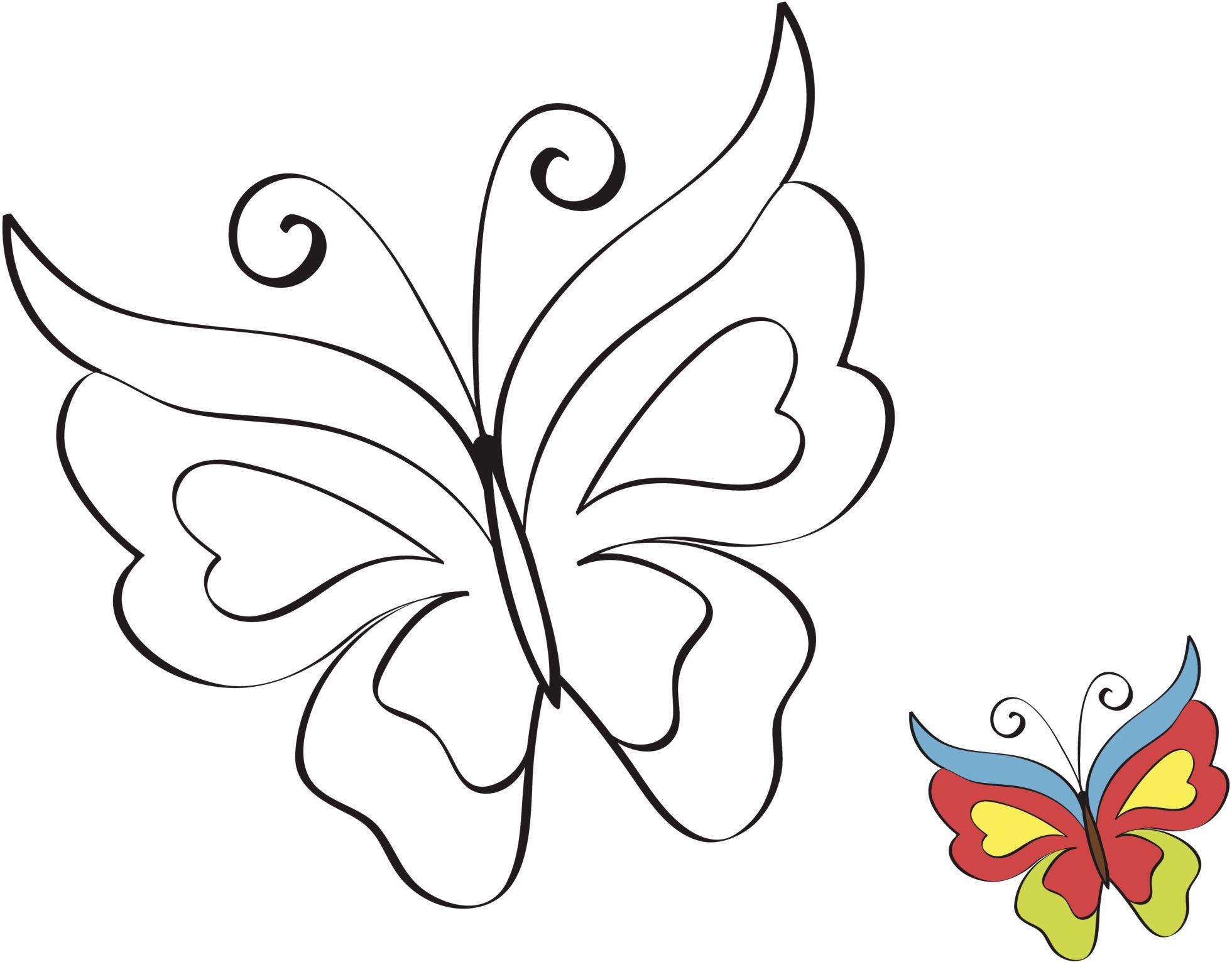 Mariposas para colorear buscar con google patrones - Plantillas de mariposas para pintar ...