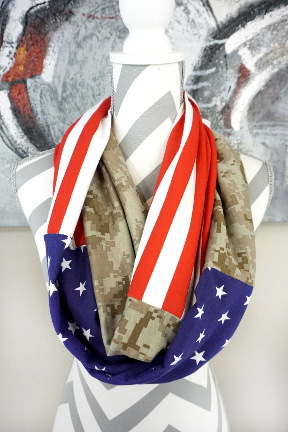 veterans day patriotic infinity scarf christmas gift ideas