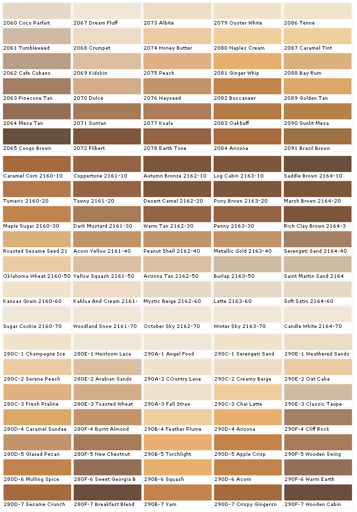 Rhett\'s trusty skin color chart (for humany chars) by ...