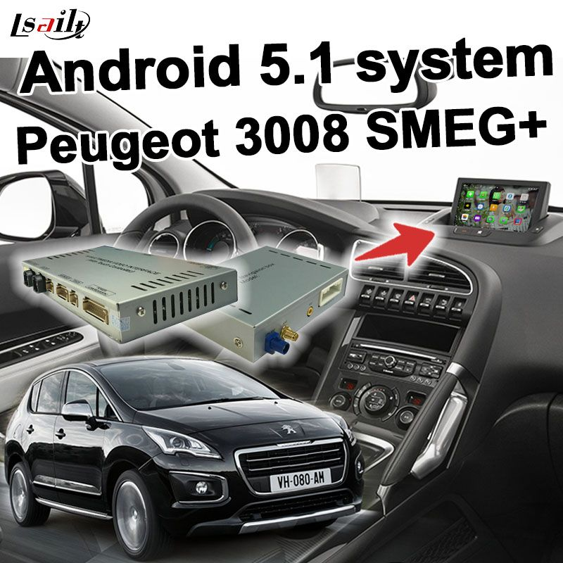 Android GPS navigation box video interface for Peugeot 208