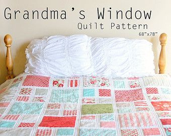 Grandma's Window Quilt Pattern / PDF by TheVintageClothespin ... : pdf quilt patterns free - Adamdwight.com