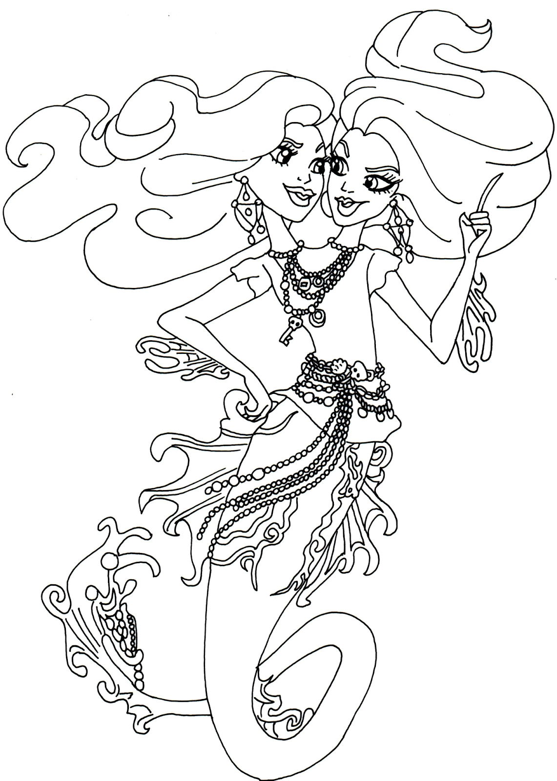 peri and pearl serpentine monster high coloring page png 1141
