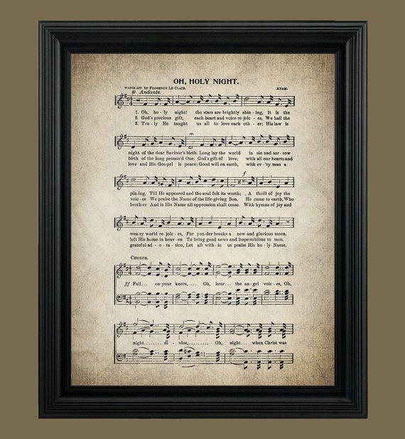 Christmas Song The Gift Lyrics: Oh, Holy Night Christmas Song Print