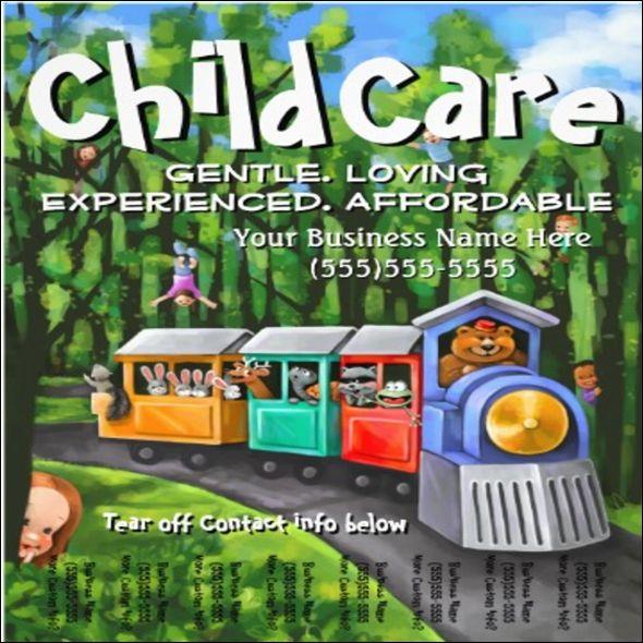 Modern Baby Daycare Flyer Psd Mockups   Flyer Template