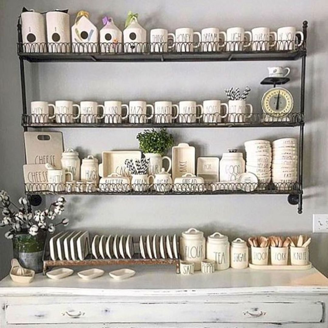 6 Ideas On How To Display Your Home Accessories: 15 Best Inspiration: Rae Dunn Display Ideas To Make