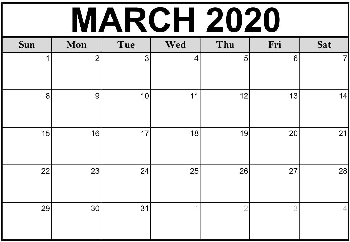 Get Editable May 2020 Calendar Template Blank Word Landscape A4