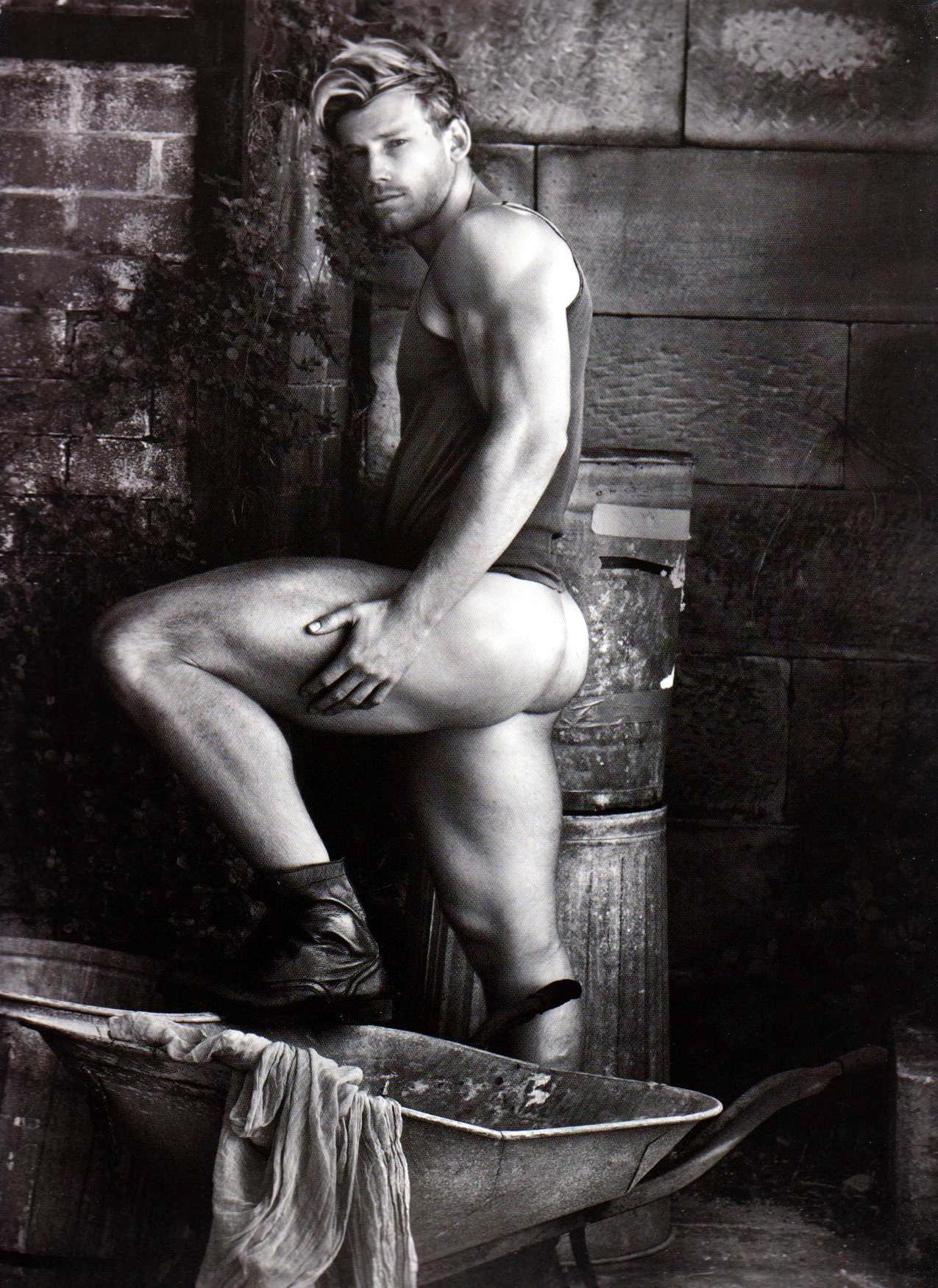 Nude male model mark cowboy