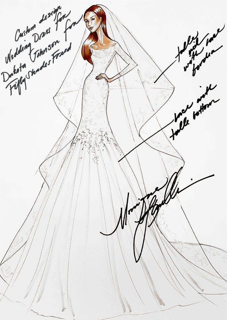 Fifty Shades Freed Wedding Dress Revealed - 50 Shades Bridal Gown ...