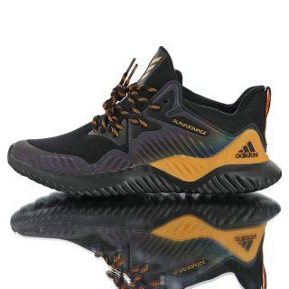 4809096f2 Mens Winter Jogging Shoes Adidas Alphabounce Beyond M Elastic surface black  yellow colorful laser B76051
