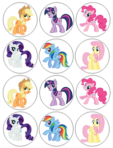 30 x Magical Unicorns Fun Party Edible Rice Wafer Paper Cupcake Toppers