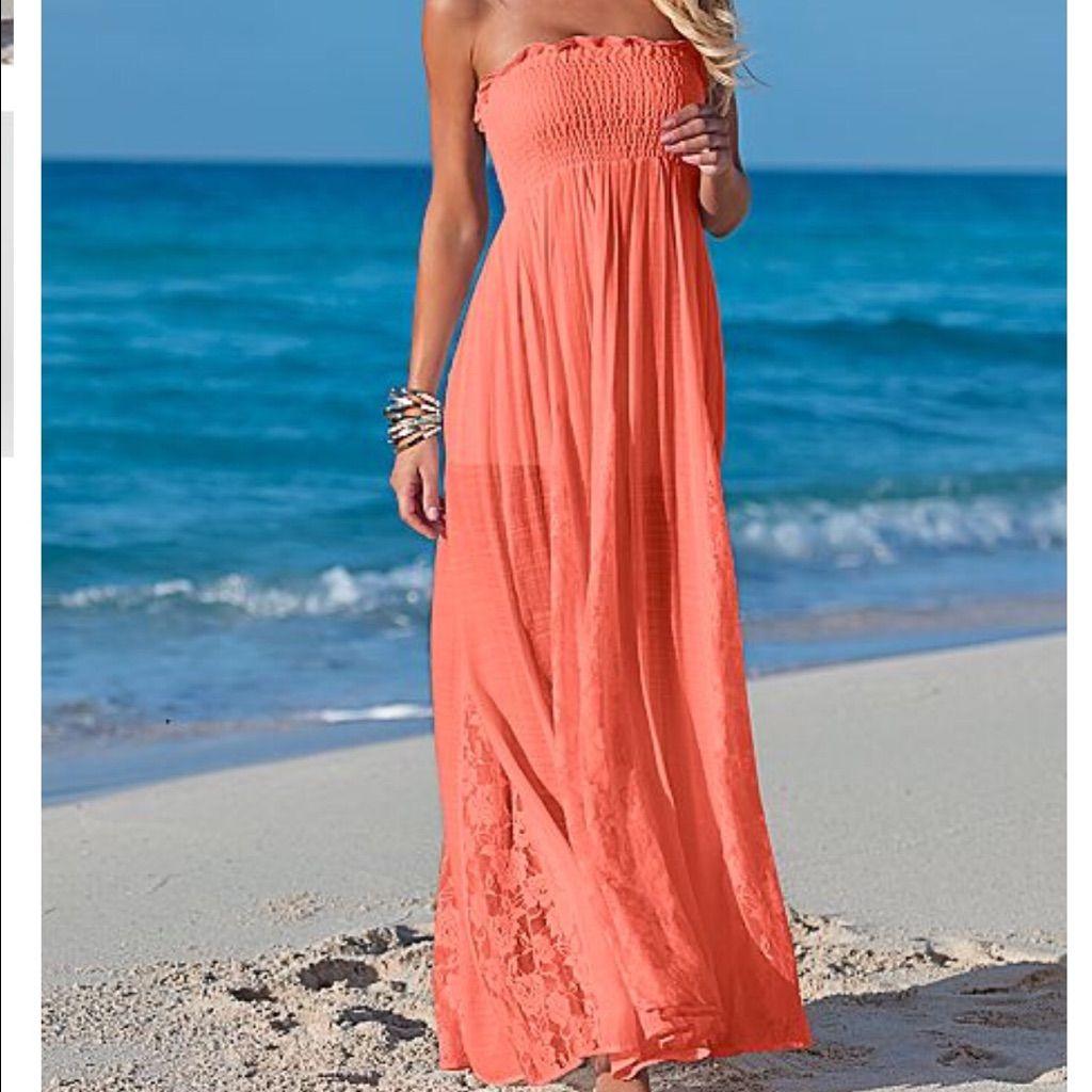 Coral Maxi Dress Coral Maxi Dresses Maxi Dress Venus Clothing [ 1024 x 1024 Pixel ]