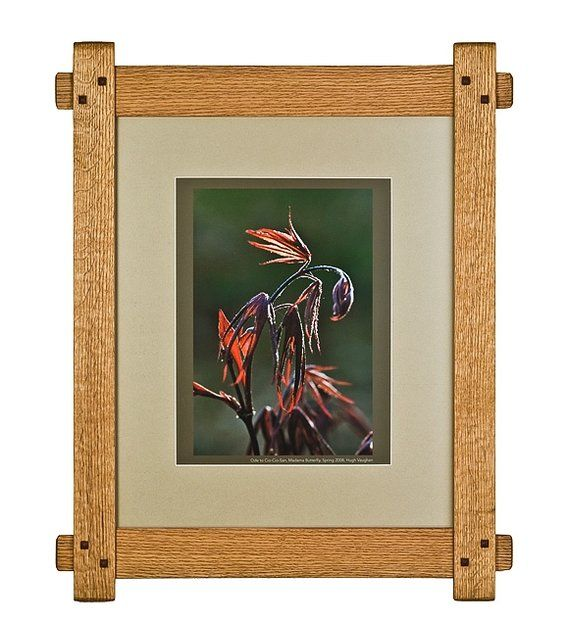 Custom made arts and crafts picture frame creole cottage for Bungalow style picture frames