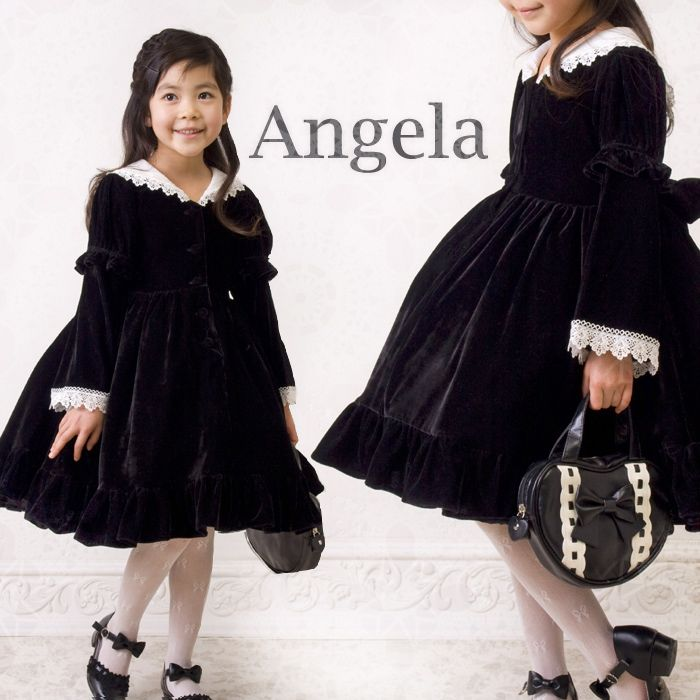 2c02b5c681a6b 子供 ベロアセーラーカラーワンピース ( こどもドレス 子供服 入学式 ...