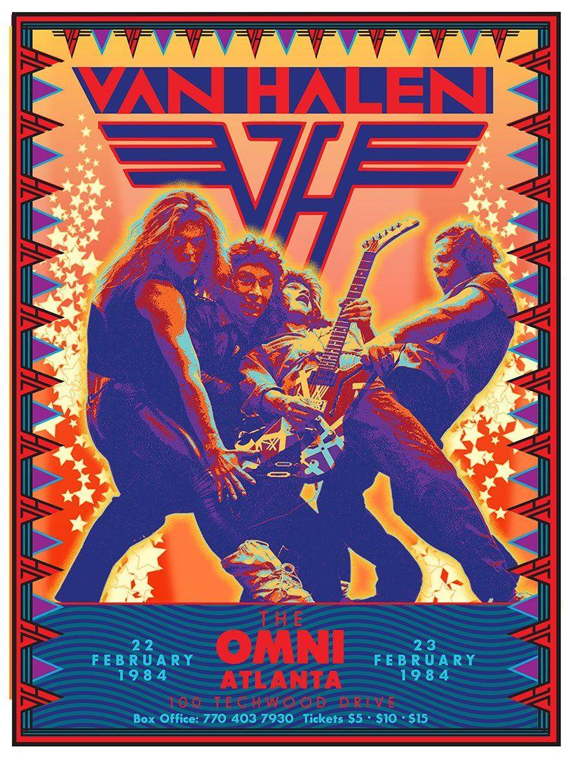 Van Halen At The Omni Atlanta Ga 1984 Etsy Rock Band Posters Vintage Concert Posters Van Halen Concert