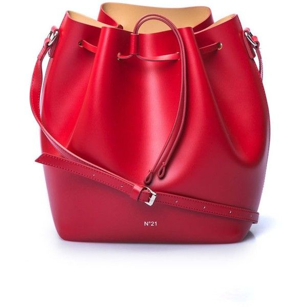 NO.21 (1.290.075 COP) ❤ liked on Polyvore featuring bags, handbags, shoulder bags, leather crossbody, red crossbody, red leather shoulder bag, red leather handbags and leather crossbody purse