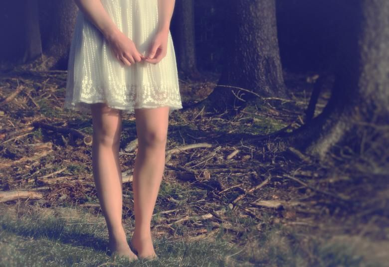 Close Up Of Girls Legs In The Forest Free Stock Photo  Free