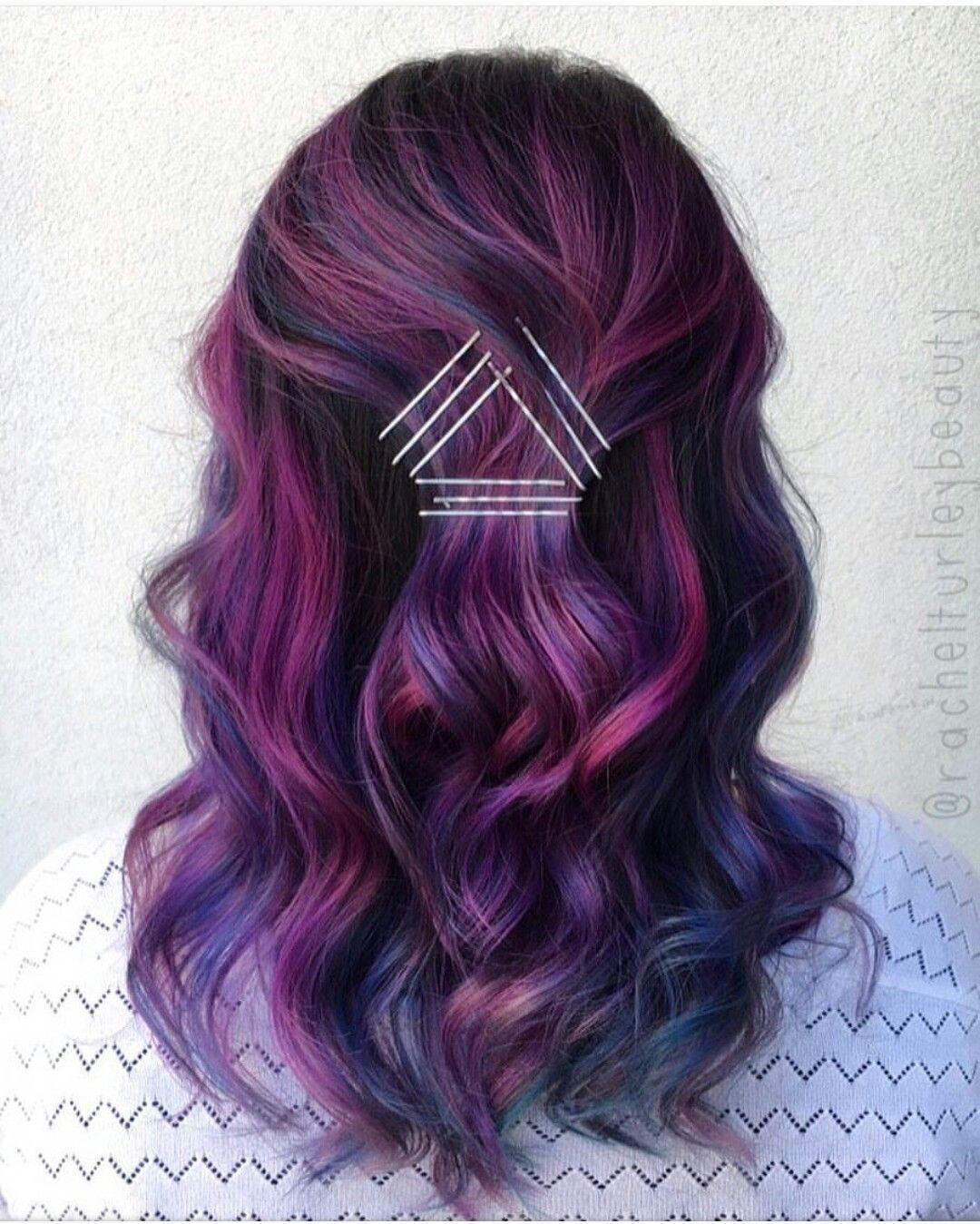 hair Pretty purple