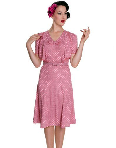 Hell Bunny 40s 50s Jennifer Tea Dress Pink
