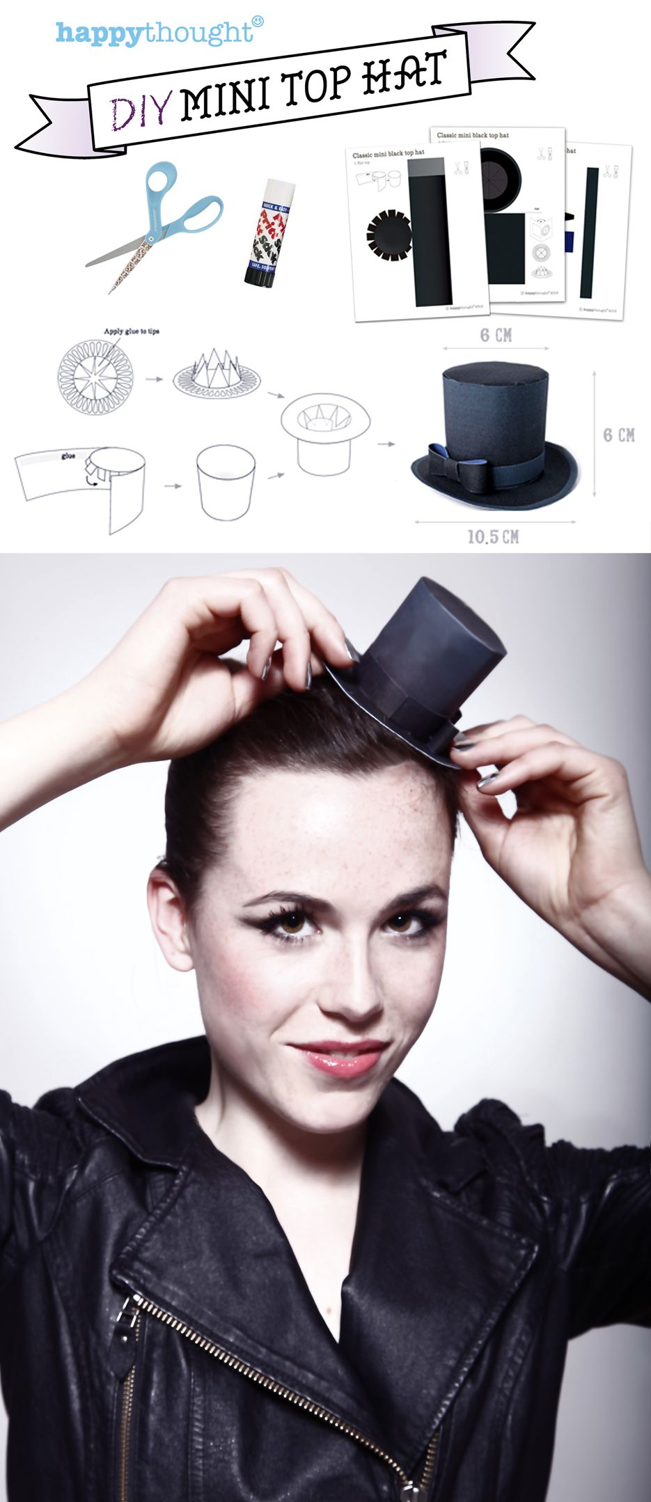8 fantastic mini top hat template designs to download and print