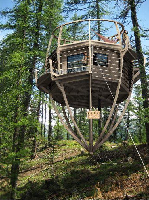 cabane polygonale sur pilotis | Cabane dans les arbres, Cabane, Plan cabane