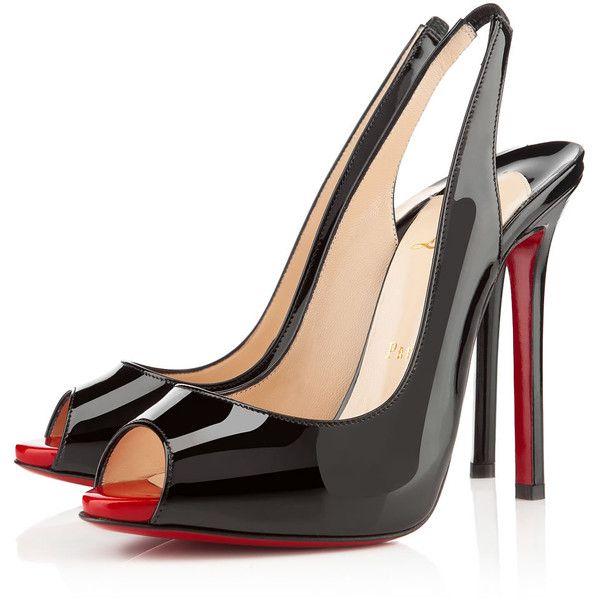 352aa5c754c High heel · Christian Louboutin Flo Sling ( 845) via Polyvore