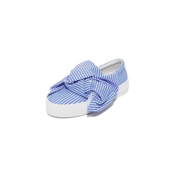 bow wide stripe sneakers - Blue Joshua Sanders fWt1v