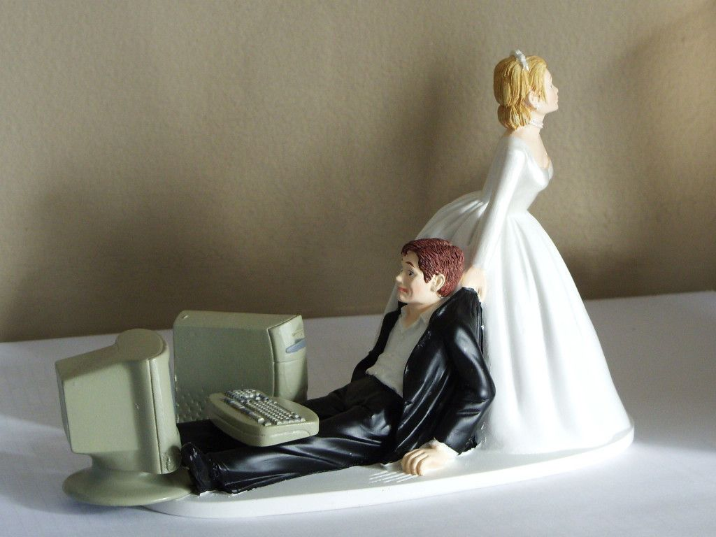 funny wedding cake figures new humorous computer themed wedding cake topper or 14568
