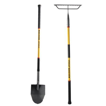 Fatmax® Fiberglass Round Point Shovel & Fiberglass Bow Rake