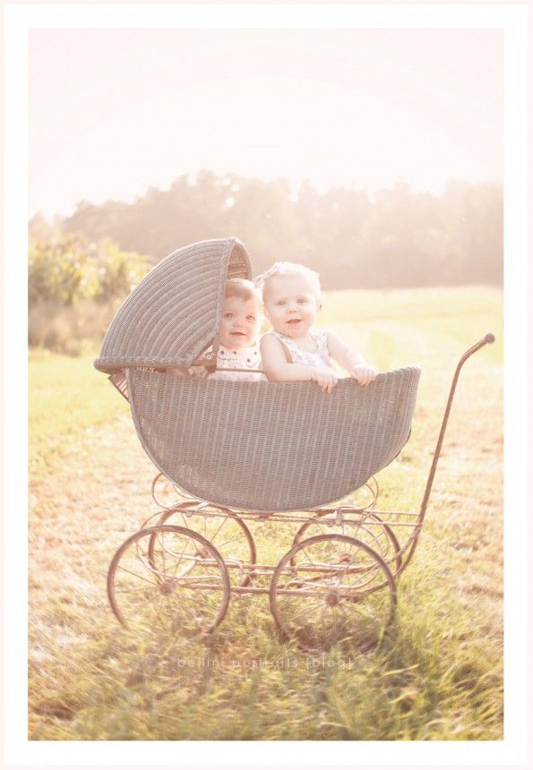 8 Month Old Twins by Bellini Portraits - quick, someone find me a pram! :)