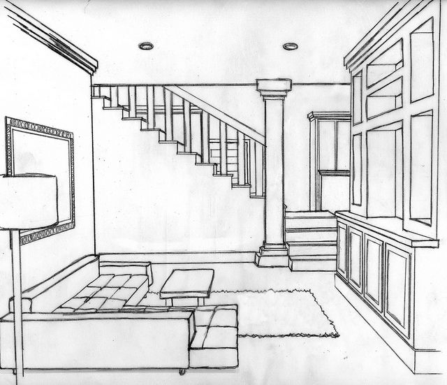 Loft Living Room Perspective Perspective Drawing Lessons Perspective Drawing Perspective
