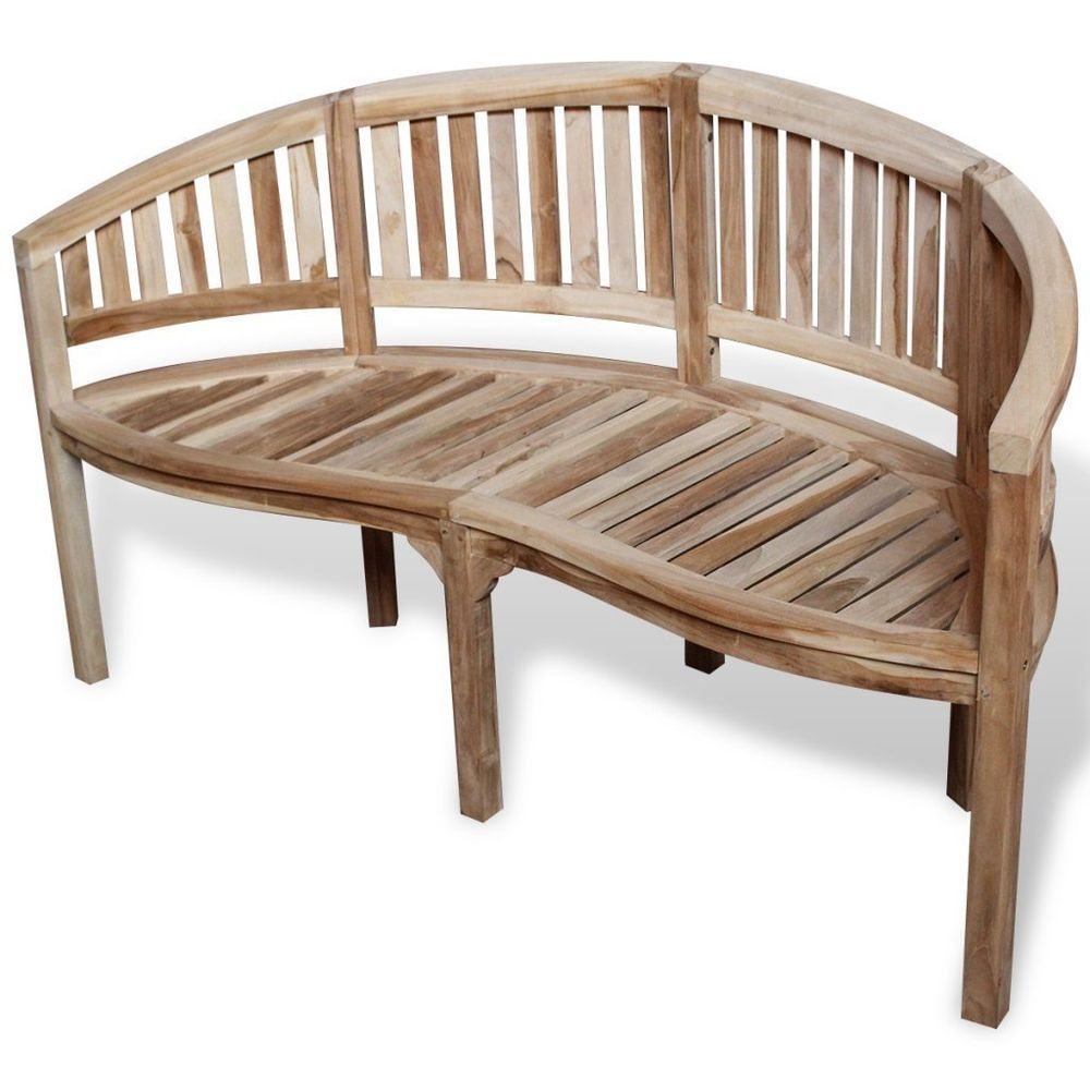 Wooden 3 Seater Outdoor Bench Half Round Patio Seat Chair Companion Furniture Rustic Outdoor Furniture Small Patio Furniture Diy Outdoor Furniture