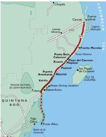 Map Of Tulum And Riviera Maya Mexico Books Worth Reading