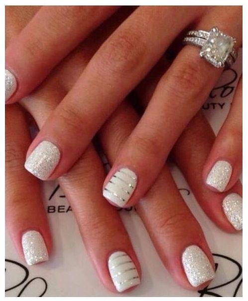 White Wedding Nail Art: Wedding Nails Design, Wedding Nails, Trendy