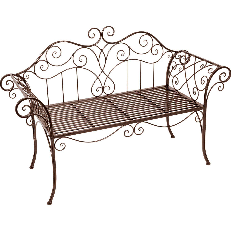 Gartenbank Aus Metall 2 Sitzer Rostoptik Pulverbeschichtet Kaufen Bei Obi Gartenbank Metall Gartenbank Dekor